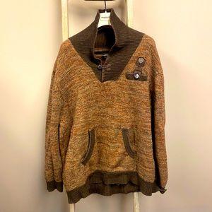Men's Parish Nation brown knit sweater 3XL